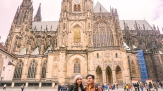 St Vitus Church at the background